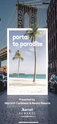 Marriott Portal to Paradiseの起動画面