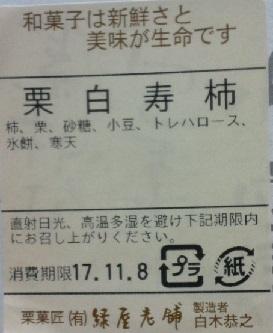 栗白寿柿_原材料