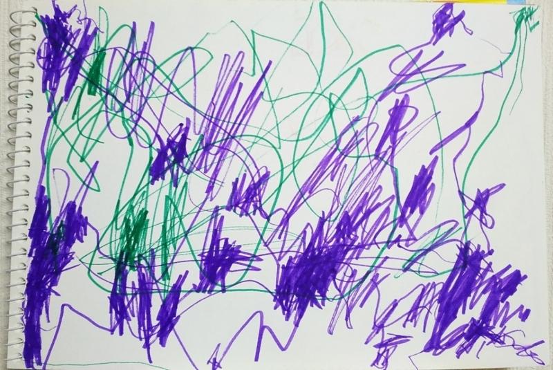 2歳息子の画力1