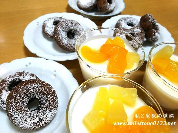 ヨーグルトケーキ&チョコ焼きドーナツ