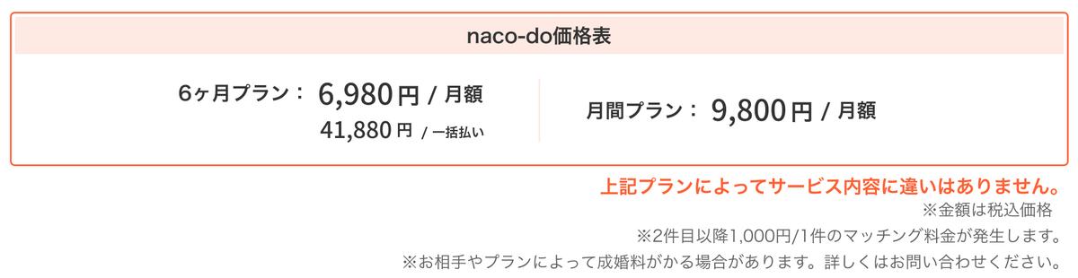 naco-do料金表