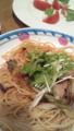 ジョリパの葱と豚肉の柚子ポン酢・モッツァレラトマト