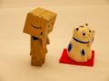 [ダンボー]青い招き猫1