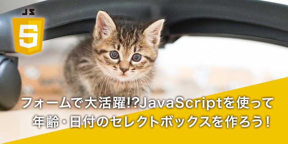 【JavaScript初心者入門】JavaScriptでセレクトボックスを作ろう!~年齢と日付編~