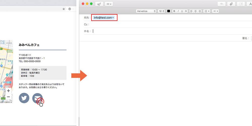 HTMLでメーラーを立ち上げる