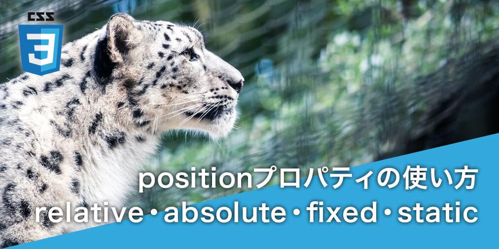 【CSS】position プロパティの基本的な使い方
