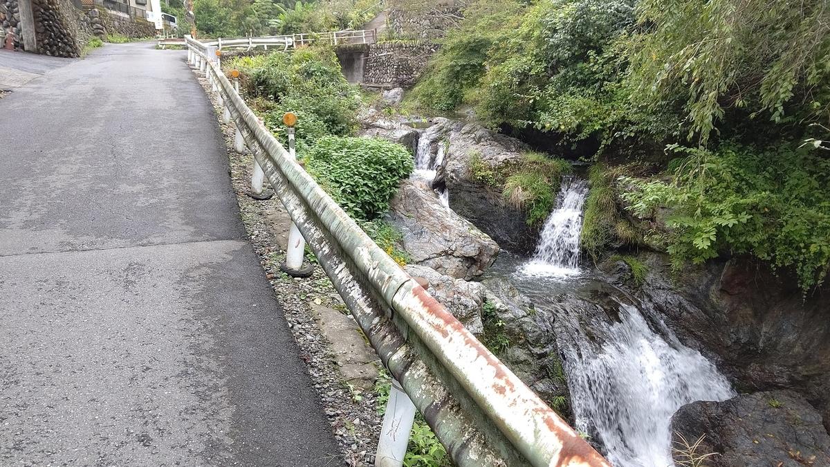 成木川を横の林道を登る