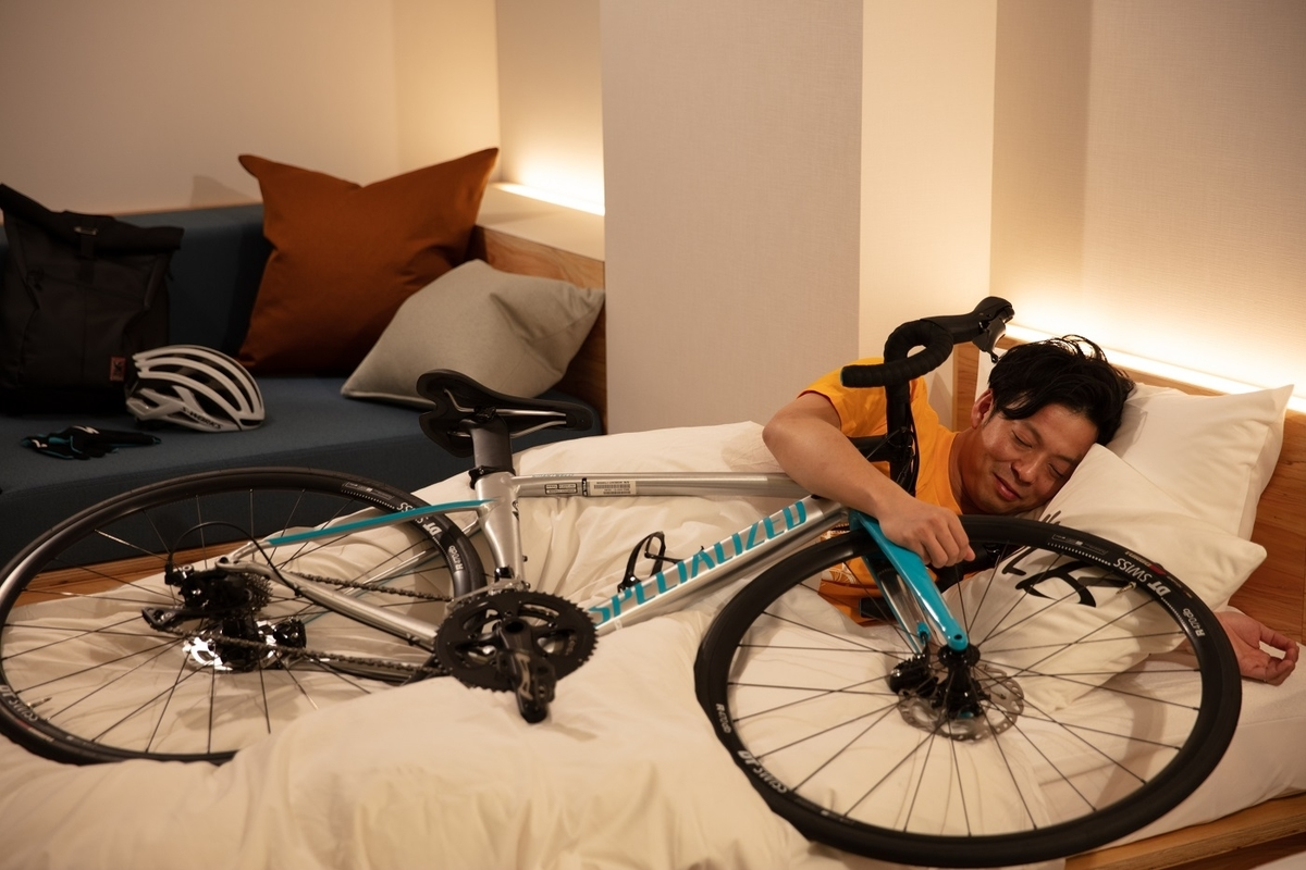 星野リゾート BEB5土浦では自転車と添い寝