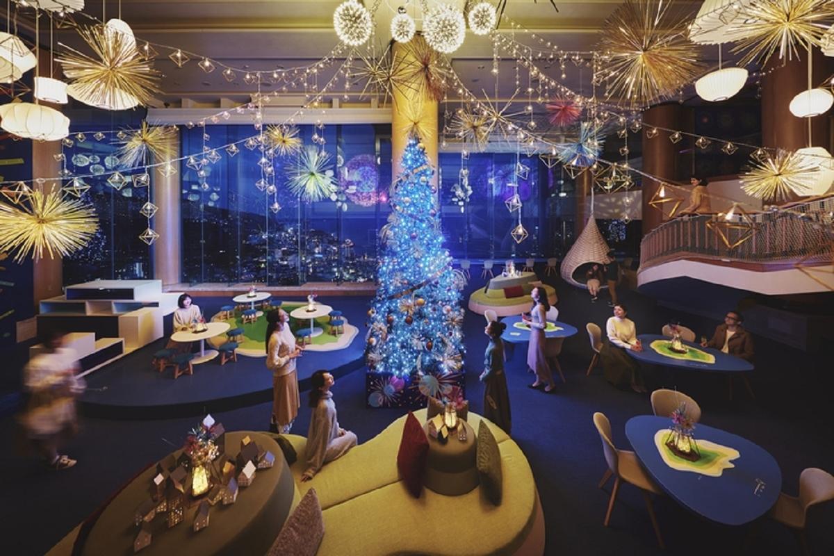 星野リゾート 熱海 リゾナーレ 花火クリスマス 花火クリスマスツリー