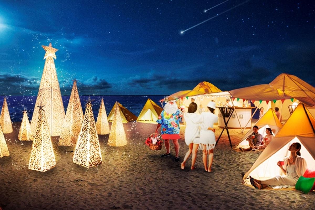 星野リゾート 小浜島 リゾナーレ 珊瑚と白砂のクリスマスツリー クリスマスティピ