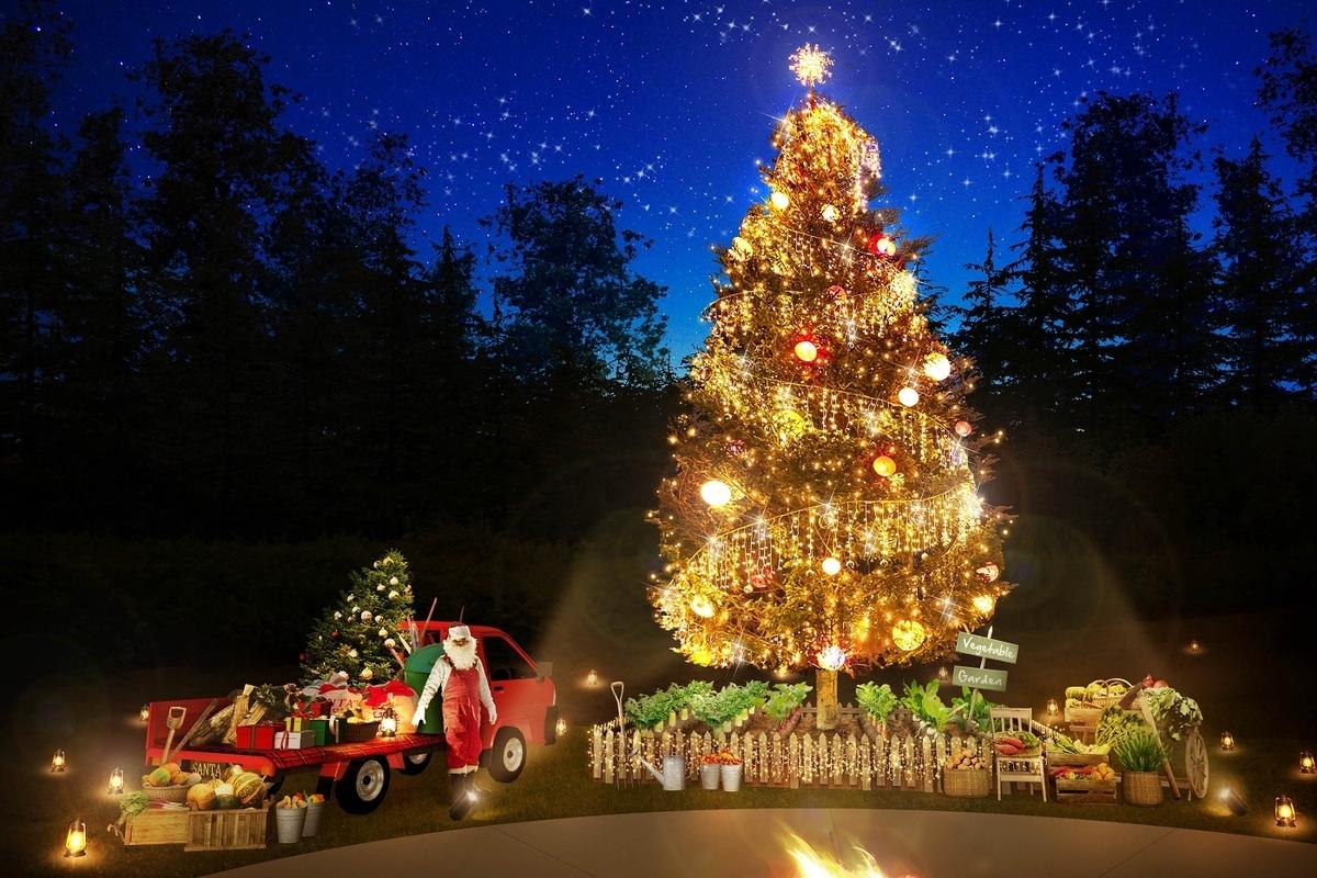 星野リゾート 那須 リゾナーレ那須  クリスマス クリスマスツリー アグリクリスマスツリー