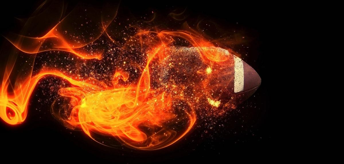 燃えるラグビーボール