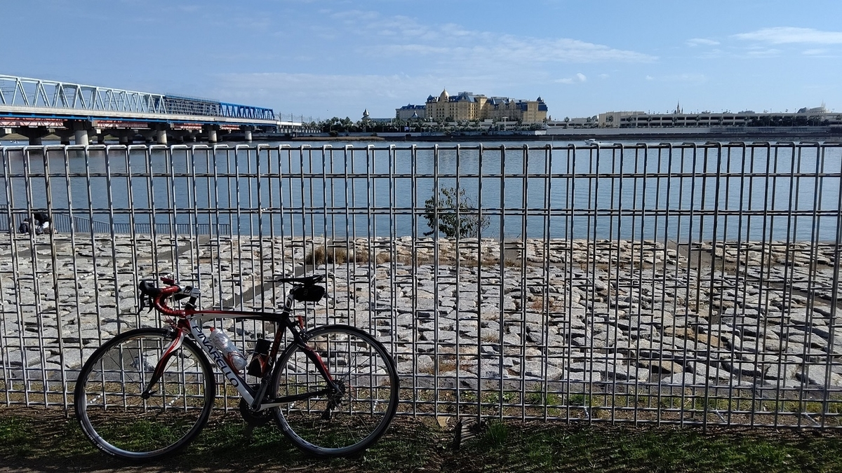 旧江戸川 葛西臨海公園 東京ディズニーランドホテル JR京葉線  舞浜大橋
