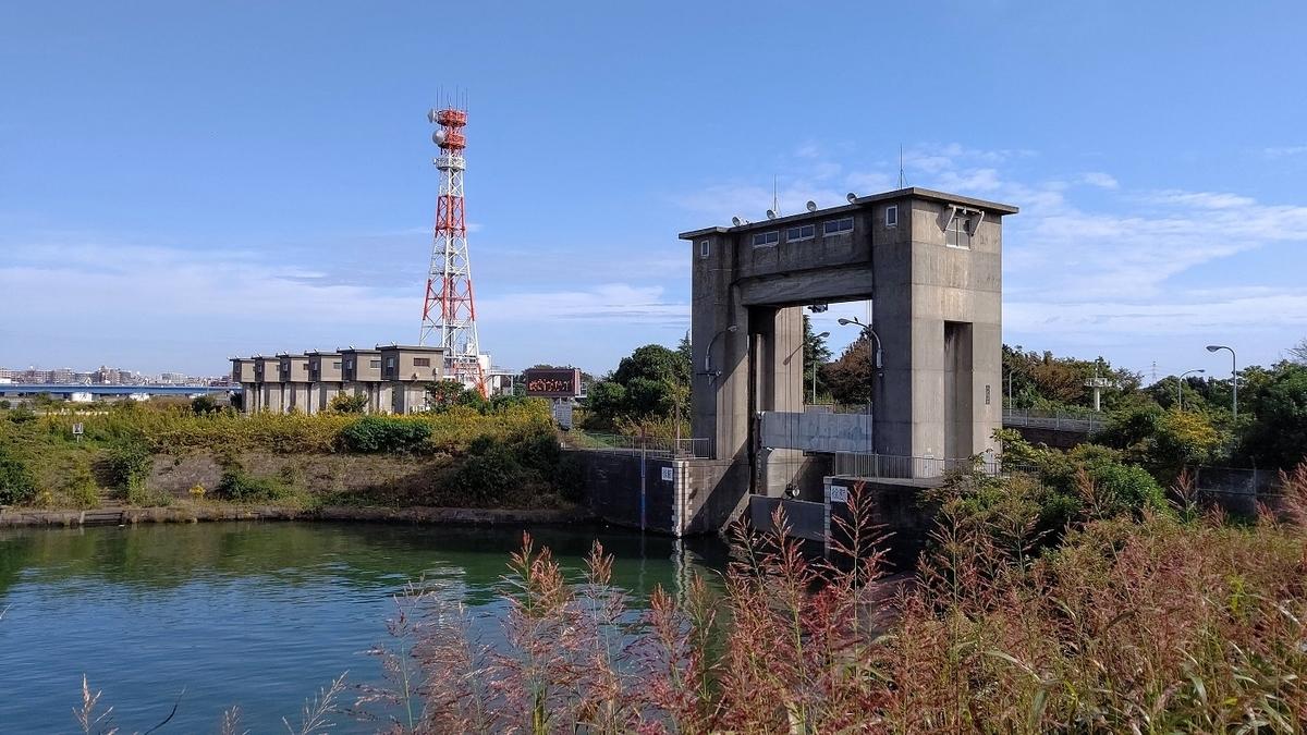 旧江戸川 江戸川 分岐点 江戸川水閘門