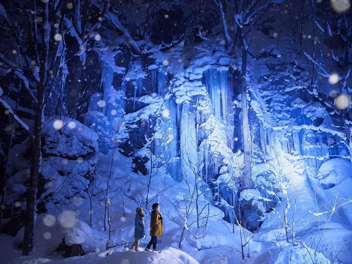 奥入瀬渓流ホテルの氷瀑