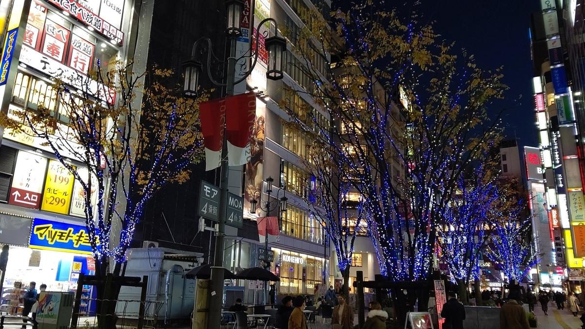 新宿 歌舞伎町 モア4番街 街路樹 LED