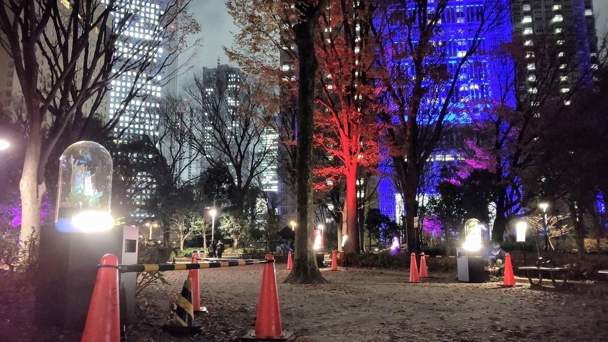 新宿中央公園 イルミネーション 東京都庁
