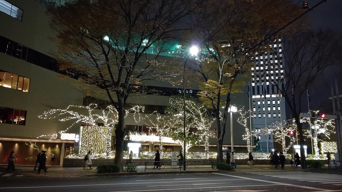 新宿西口 イルミネーション ヒルトン東京