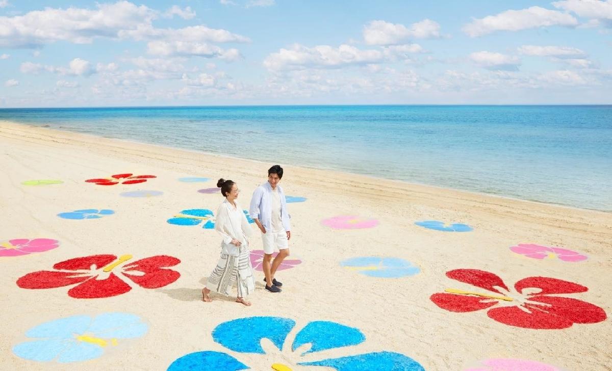 ビーチの花咲くリゾナーレ