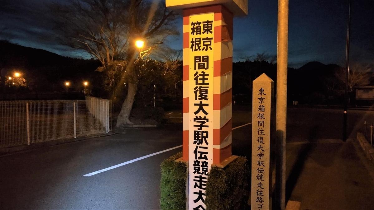 箱根駅伝 往路 5区 芦ノ湖 ゴール 石碑
