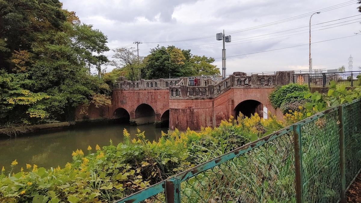 水元公園 閘門橋 レンガ造り 日本の近代土木遺産