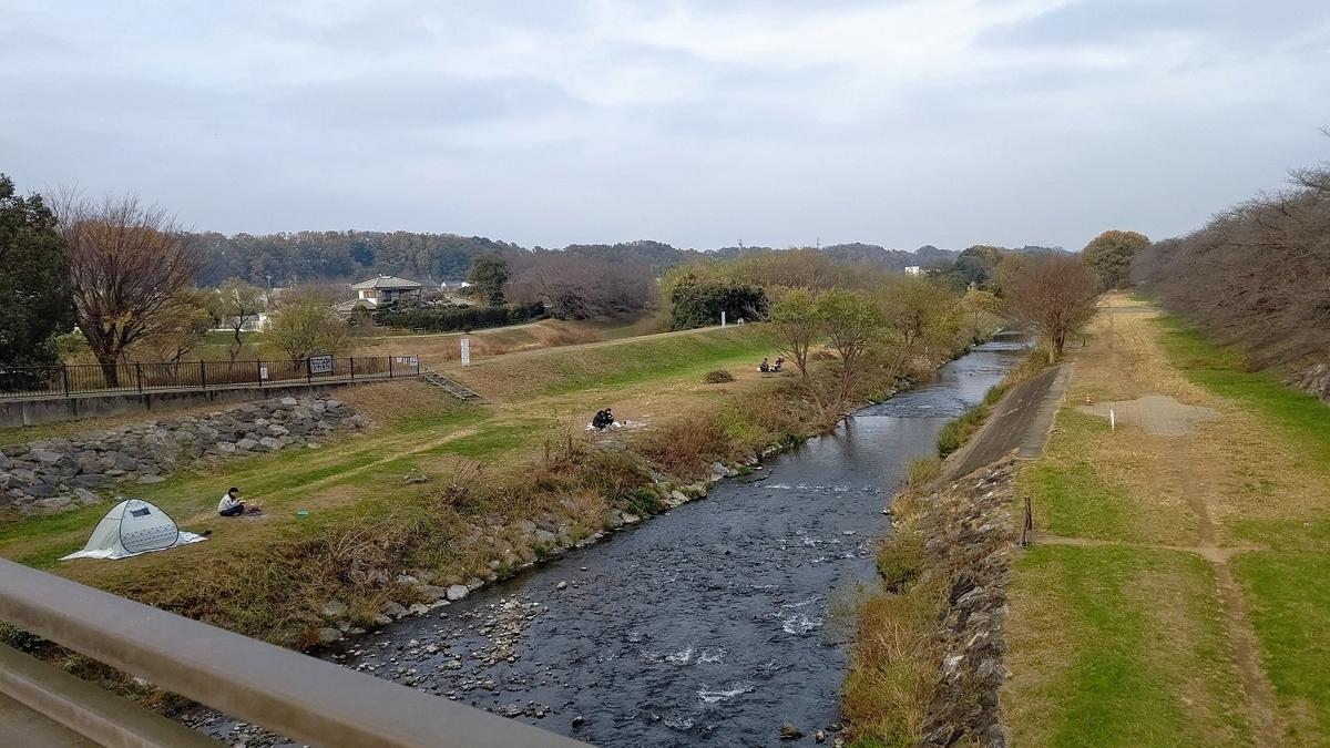 柳瀬川 河原 ソロキャンプ