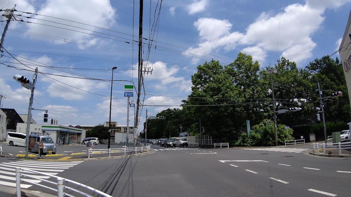 自転車 旅 東京五輪 聖火リレー 5日目 小平 上水南町交差点