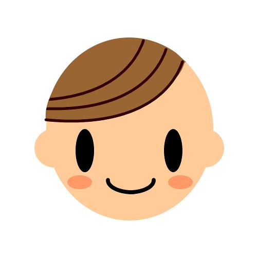 ミモモスティのプロフ画像からサイドの髪を外したイラスト