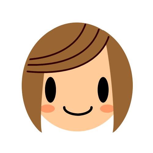 ミモモスティのプロフ画像のサイドの髪をボリュームダウンさせたイラストサイド