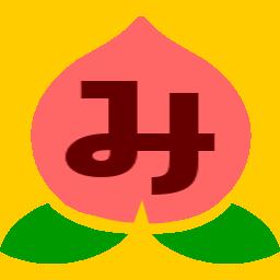 ミモモスティの新ブログアイコンの桃のお尻の割れ目をちょっとだけ復元させたところ