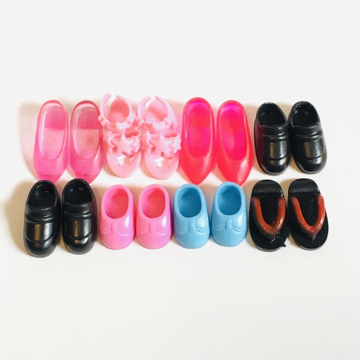 リカちゃんやミキちゃんマキちゃんやエリーちゃんの靴たち