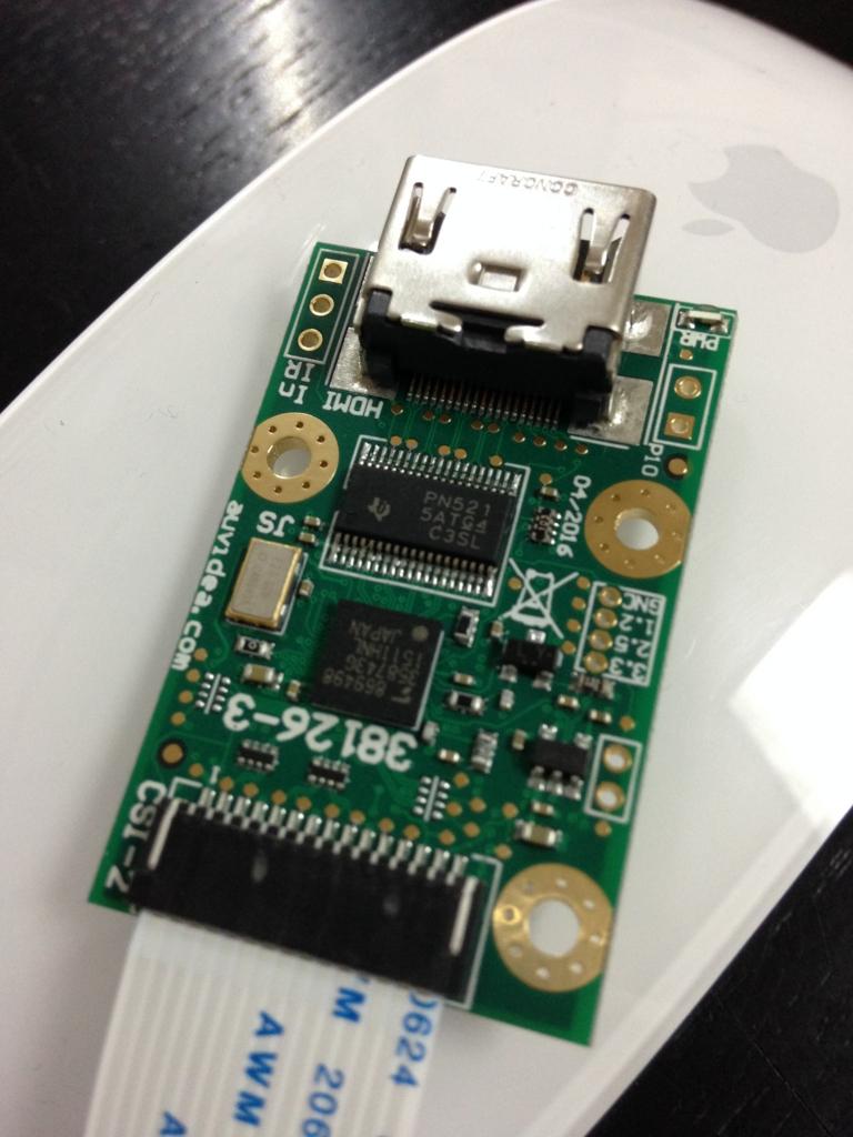 RaspberryPi でブルーレイレコーダーの再生映像をHDMIキャプチャ