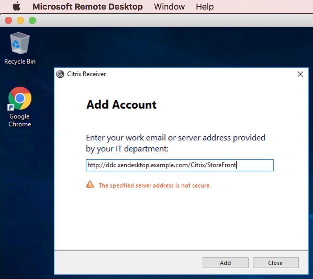 仮想化 XenDesktopで、占有型仮想デスクトップ展開 → Citrix Receiver
