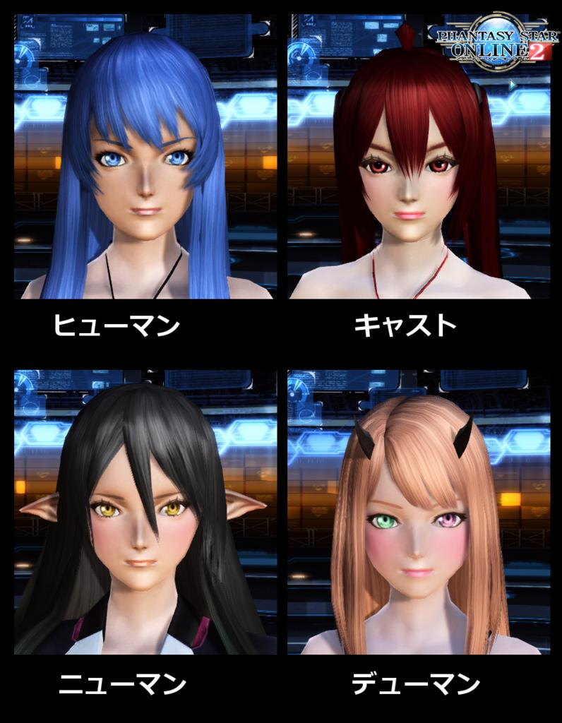 4種族の若顔比較画像