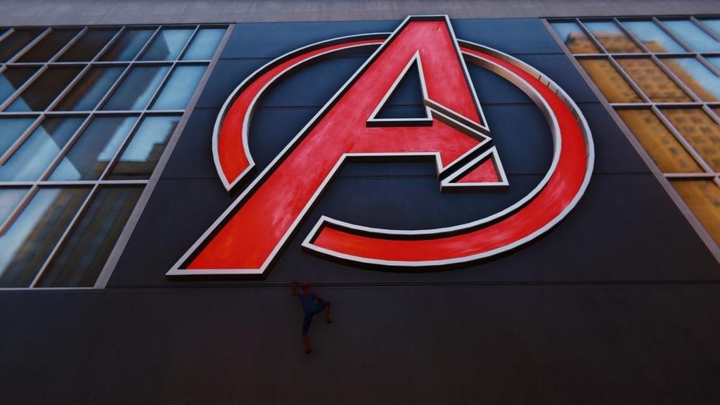 PS4スパイダーマンの街中にあるアベンジャーズマンションらしき建物