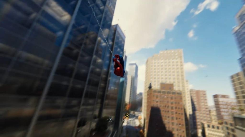 PS4マーベルスパイダーマンのスピード感を伝える画像