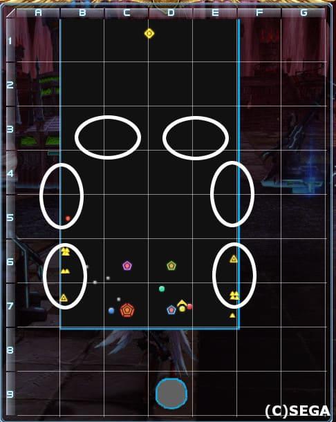 PSO2バスター緊急「不尽の狂気」の敵配置が分かる画像