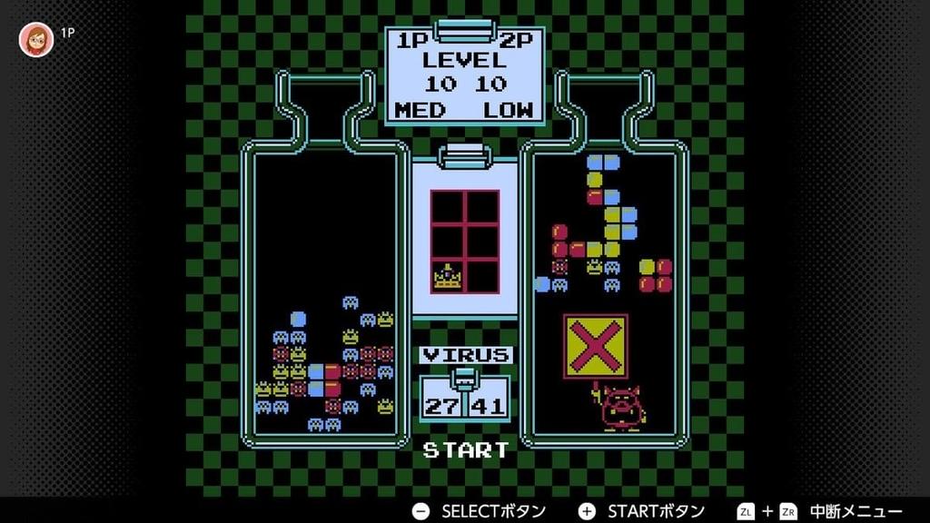 switchファミコン「ドクターマリオ」の対戦中の画像その2
