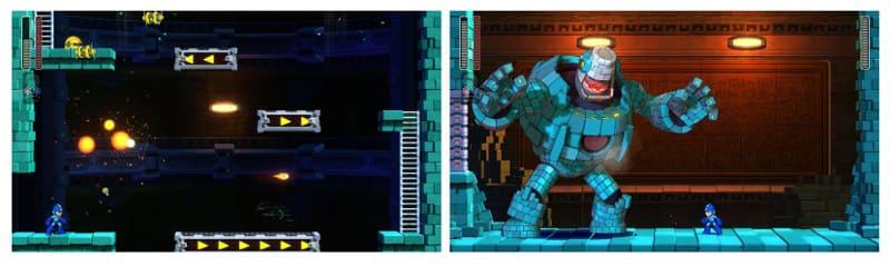 ロックマン11の体験版のプレイ画像その2