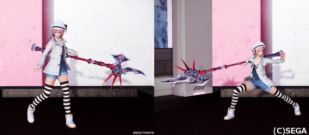 PSO2ロビアク347「槍を構える」の静止画像