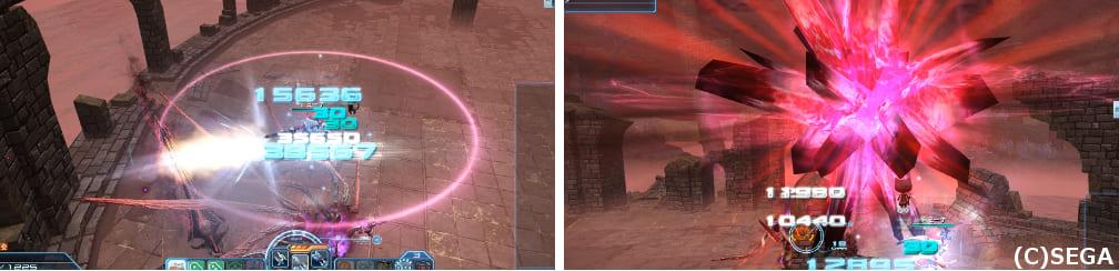 PSO2オメガマスカレーダの攻撃確認画像その2