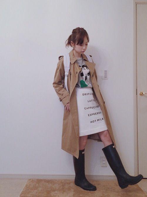 レインブーツファッション