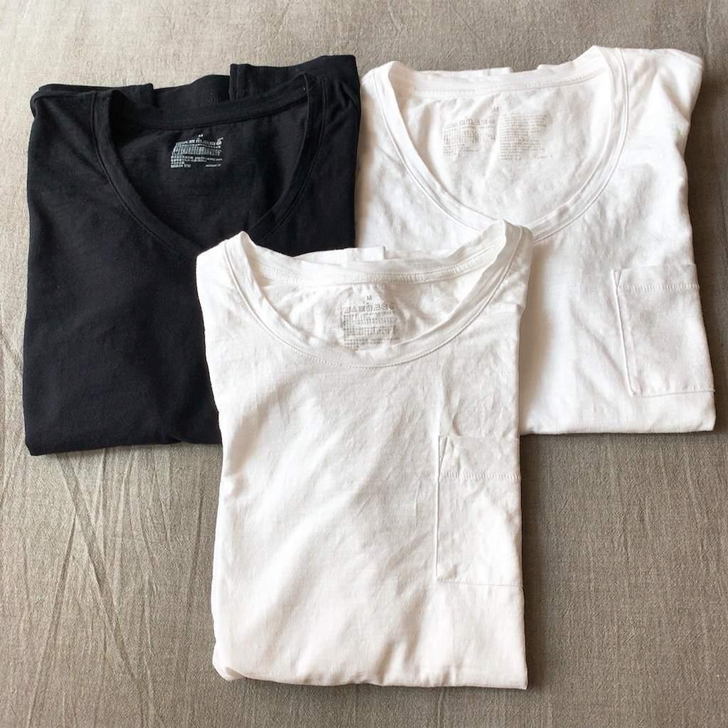 ムラ糸天竺編み半袖Tシャツ