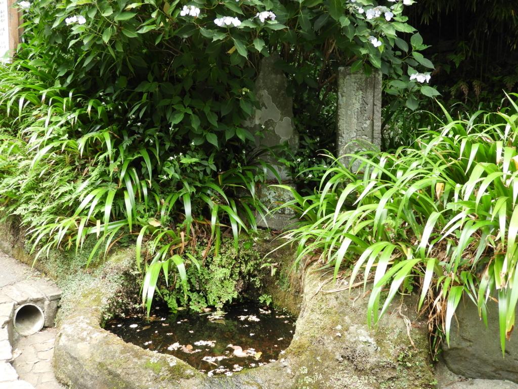 鎌倉十井の一つである「底抜の井」