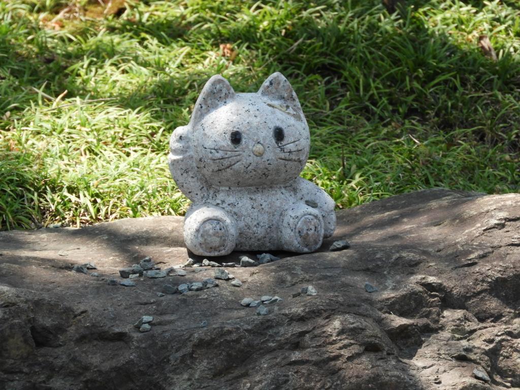 キティちゃんの石像