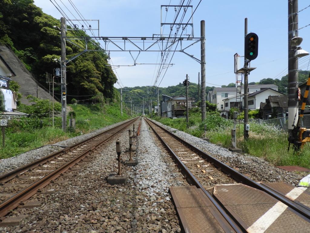 横須賀線の踏切