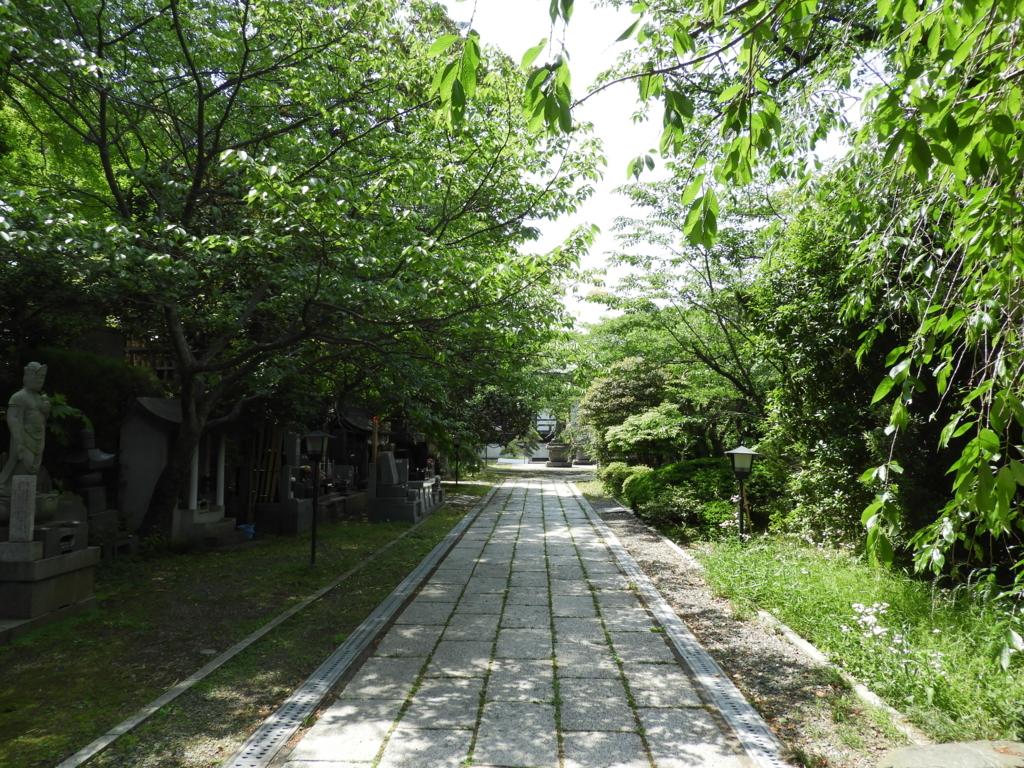 長勝寺の参道