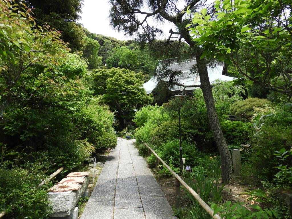 妙法寺の参道