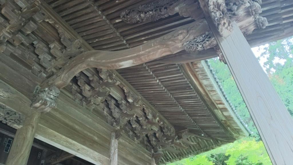 妙本寺の複雑な構造の庇