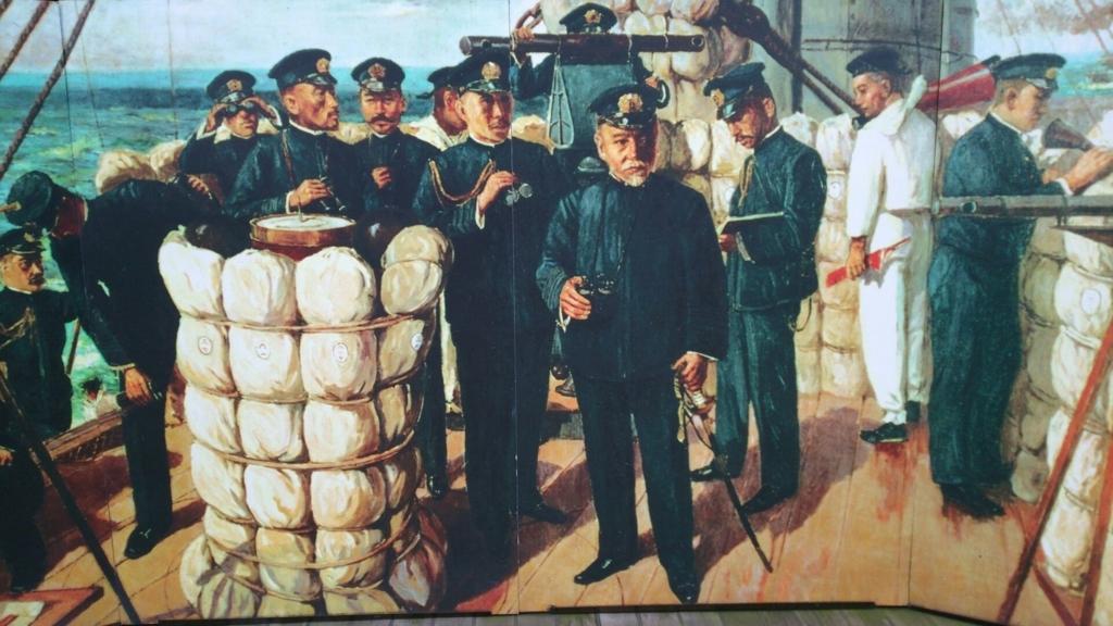 日本海海戦時の東郷を描いた絵